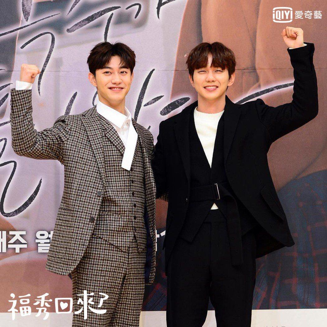 俞承豪(右)、郭東延在「福秀回來了」中有許多精彩對戲。圖/愛奇藝台灣站提供