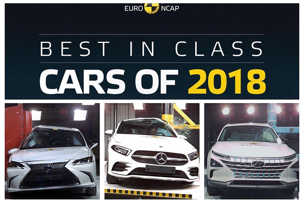 Euro NCAP公布年度各級表現最佳的新車,當中Lexus ES、賓士A-Cl...