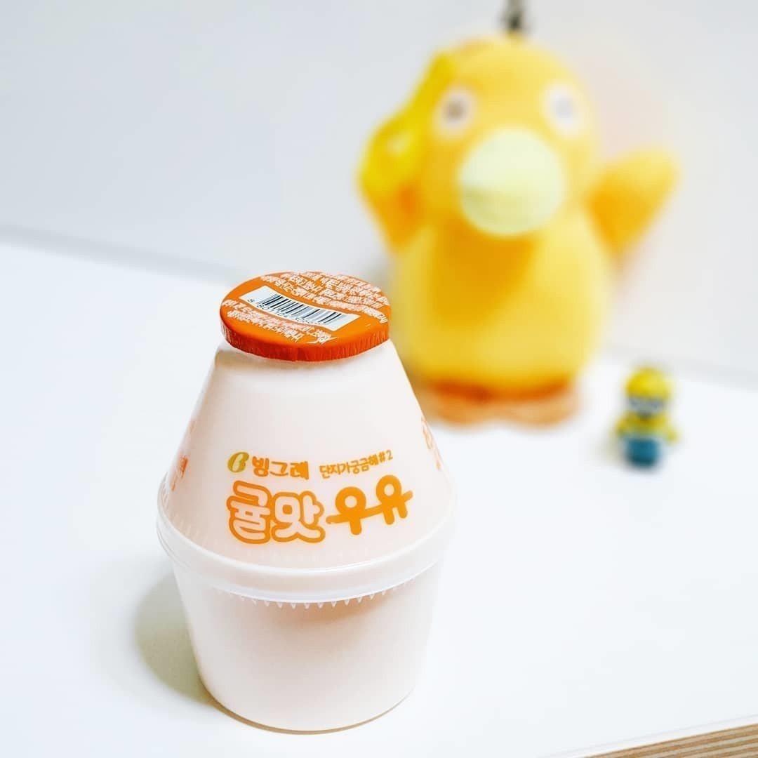 韩国必喝的香蕉牛奶已不稀奇新口味济州岛「柑橘牛奶」