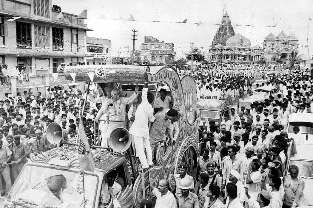 主張印度教國族主義的印度人民黨(BJP)領導人阿德瓦尼(L. K. Advani...