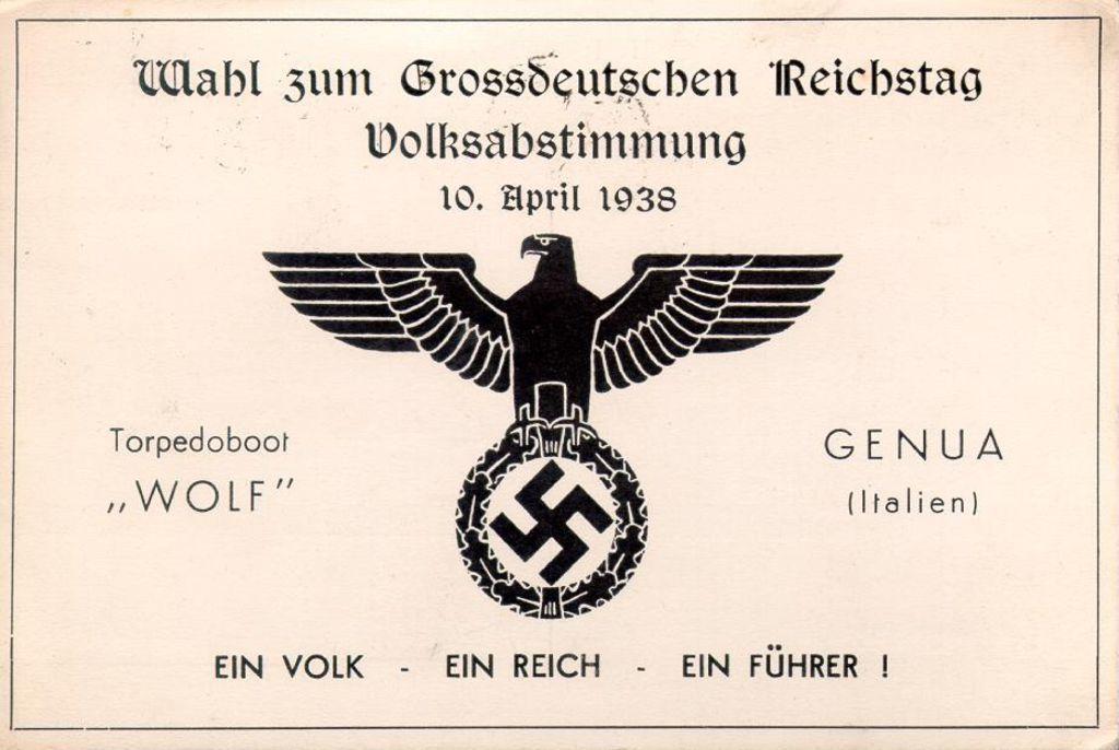 「你是否同意在1938年3月13日所實現的奧地利與德意志帝國重歸一統、以及是否贊...