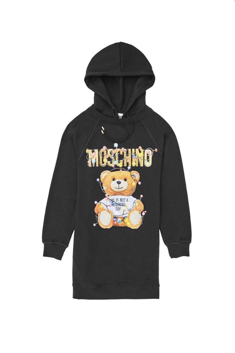 Teddy Holiday長袖連帽洋裝,31,500元。圖/Moschino提供