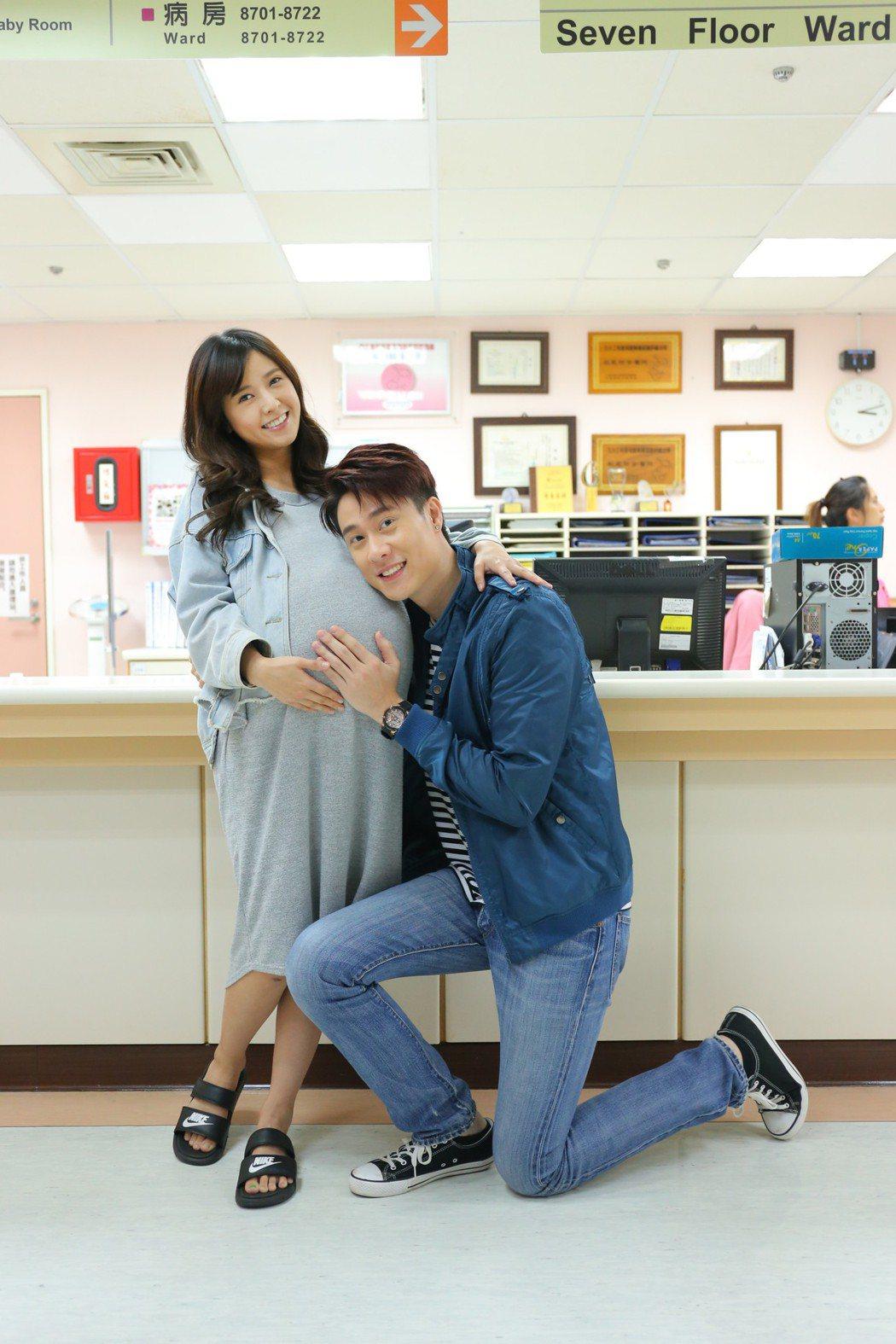 大元(左)與劉書宏演奉子成婚的夫妻。圖/TVBS提供