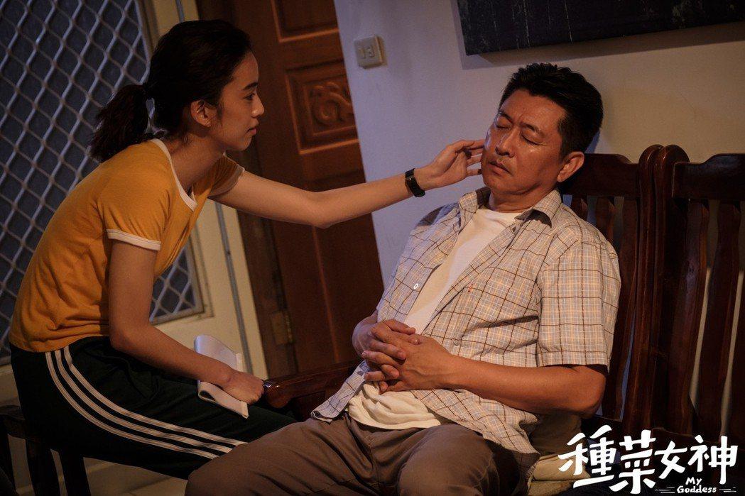 陳庭妮(左)在「種菜女神」中暗戀庹宗華。圖/歐銻銻娛樂提供