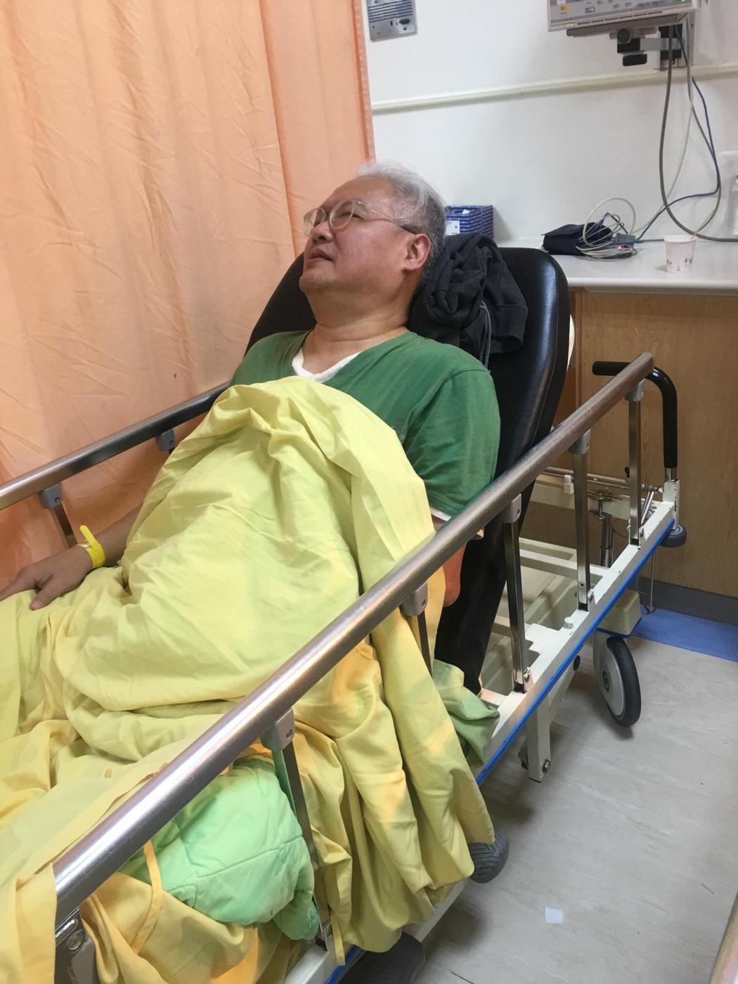 范可欽在三總急診室。圖/應曉薇提供