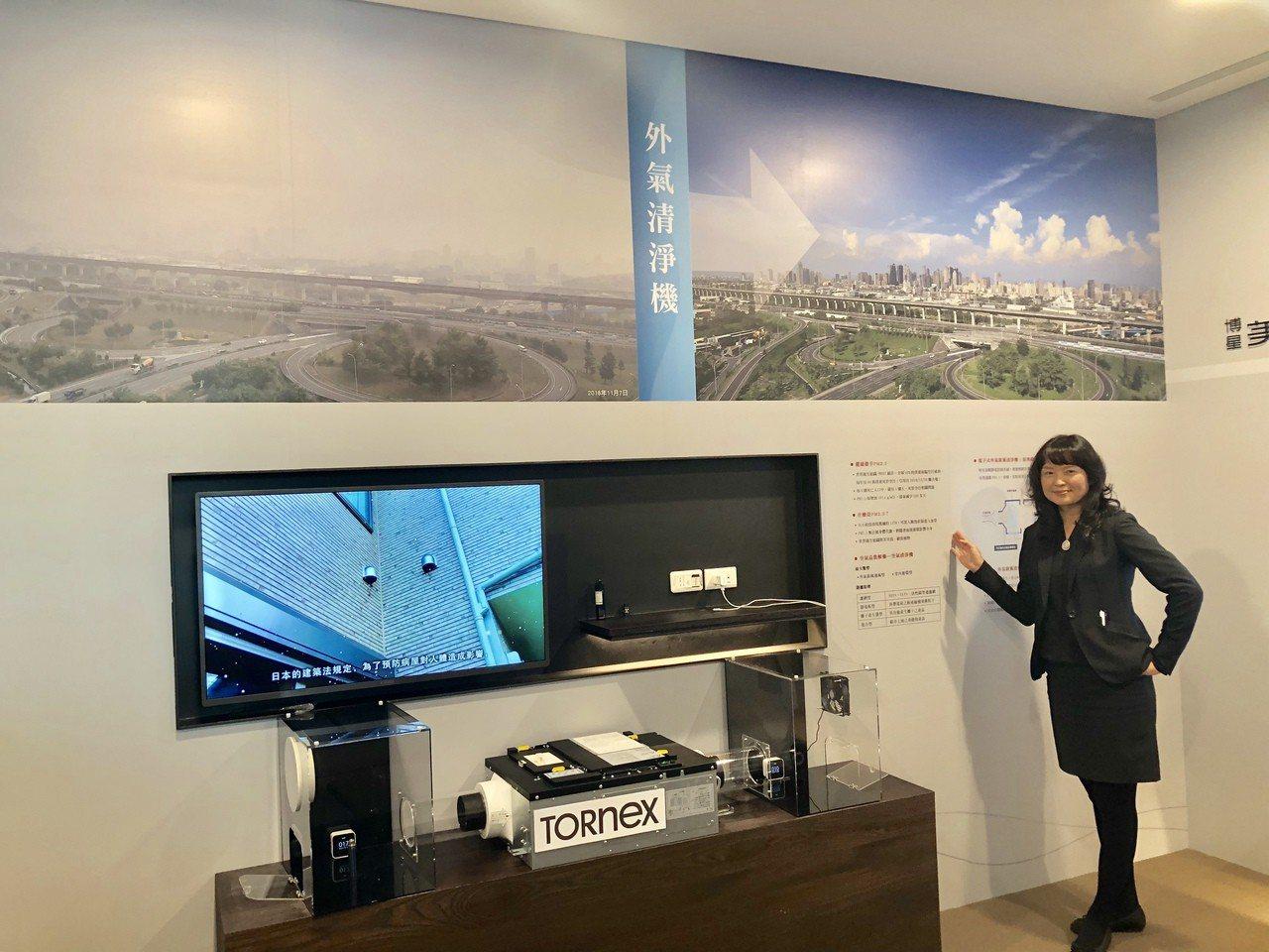 因應日益嚴重的空汙問題,「博星美術W」全戶配備日本進口的全時空氣外氣清淨機,標榜...