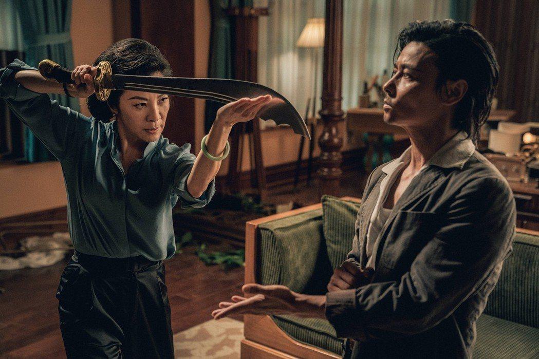楊紫瓊與張晉在「葉問外傳:張天志」中過招。圖/華映提供