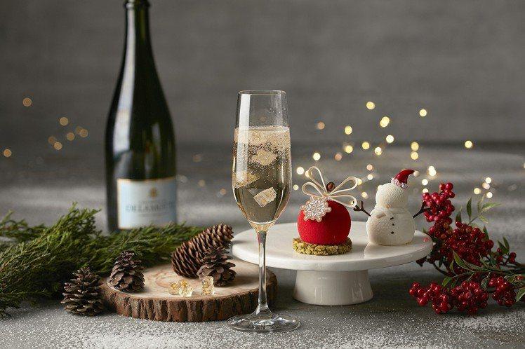 「甜謐之森」香檳甜點組,每套990元+10%。圖/台北喜來登飯店提供