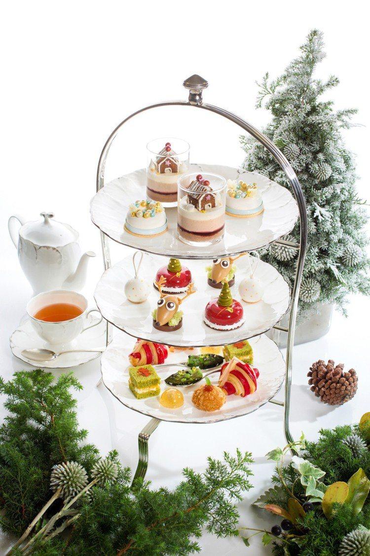 青隅「耶誕迷蹤下午茶」每位1,350元起。圖/台北文華東方酒店提供