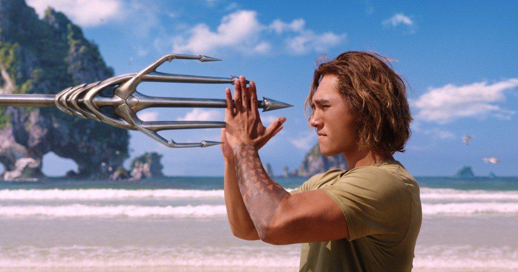 「水行俠」當然也有提及男主角如何被訓練出超強戰技。(美聯社)