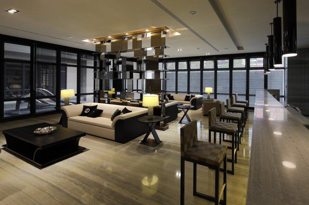 Lounge Bar 實景拍攝。圖片提供/城揚建設集團