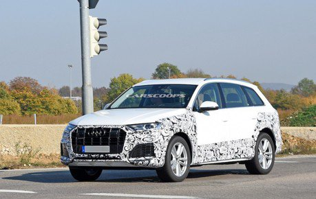 小改款Audi Q7測試現蹤 換上全新頭尾燈