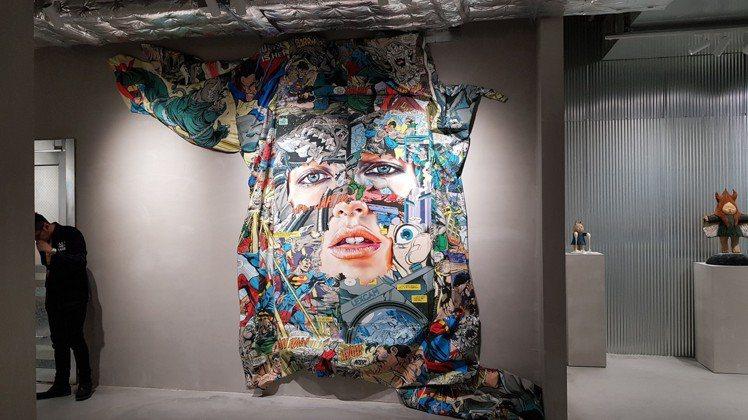 不僅是繪畫,作品展也囊括各種呈現方式。圖/記者陳睿中攝影