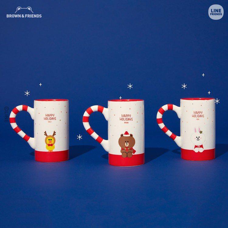 LINE FRIENDS耶誕限定馬克杯,售價580元。圖/LINE提供