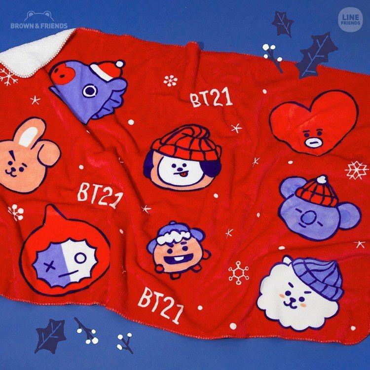 BT21冬季絨毛毯,售價800元。圖/LINE提供
