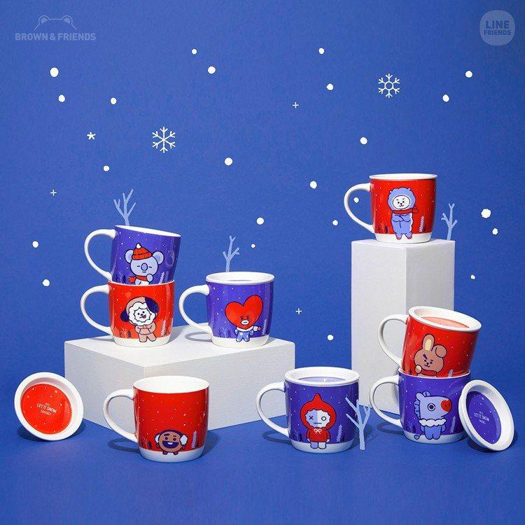 BT21耶誕限定馬克杯,售價480元。圖/LINE提供