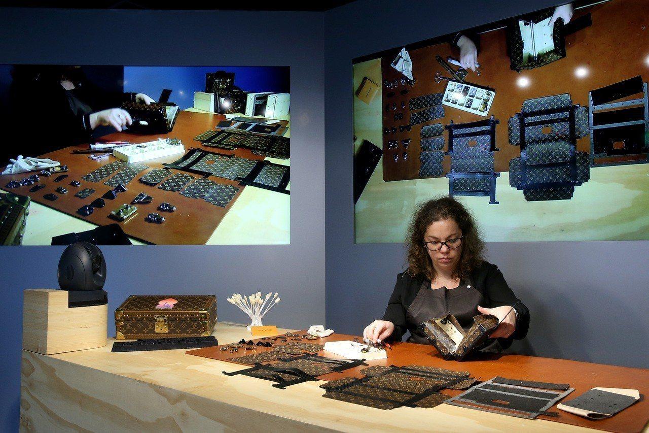 「時空.錦.囊」展覽中的「工藝展演」區。記者余承翰/攝影