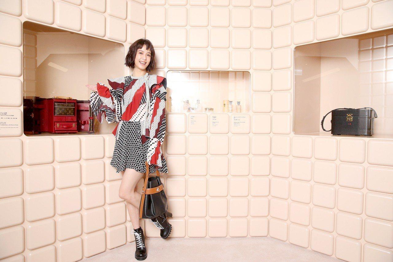 陳庭妮出席路易威登「時空.錦.囊」展前酒會。記者余承翰/攝影