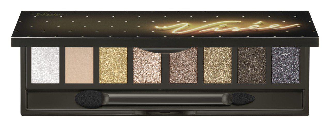 Visee霓幻8色眼彩盤GD-1煙燻金礦,售價560元,限量。圖/Visee提供
