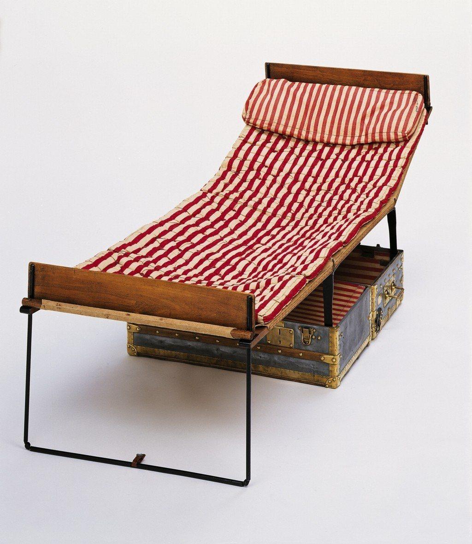 折疊床旅行箱是路易威登工藝沿革的珍貴典藏。圖/LV提供