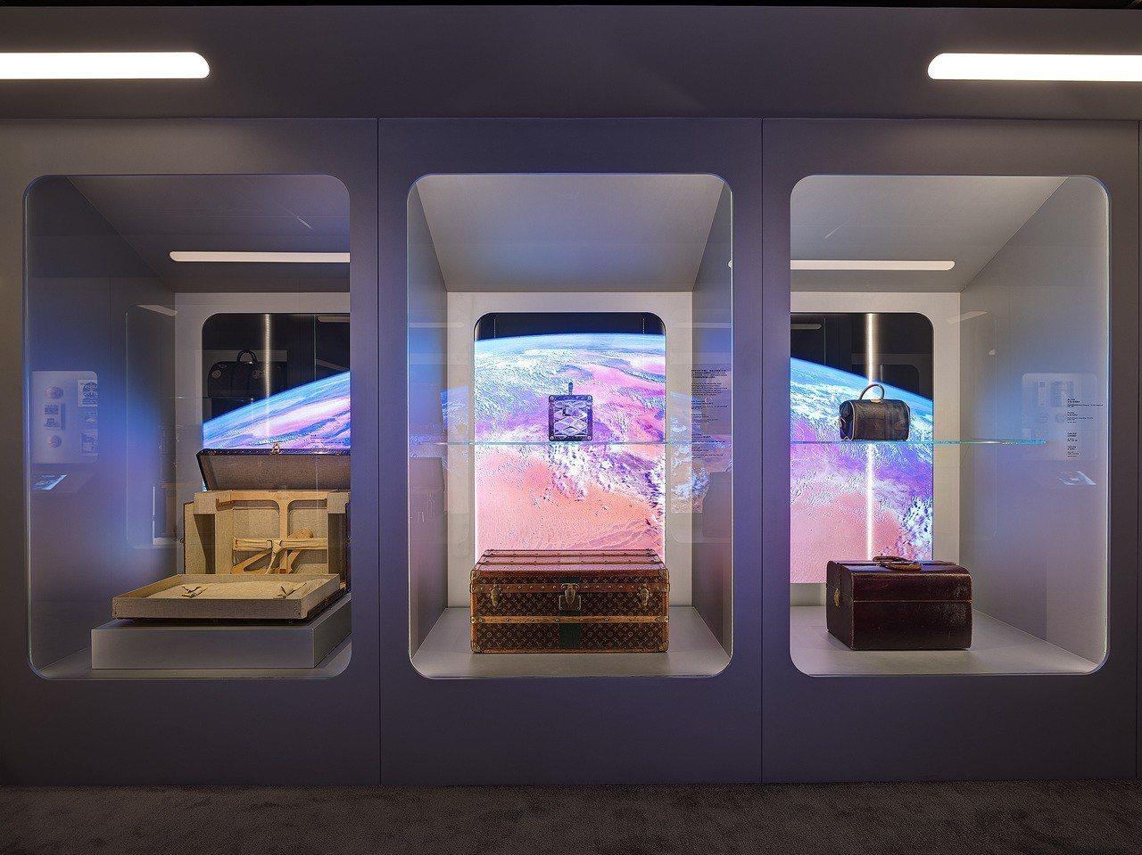 路易威登「時空.錦.囊」的精彩旅程遨遊天下主題展間。圖/LV提供
