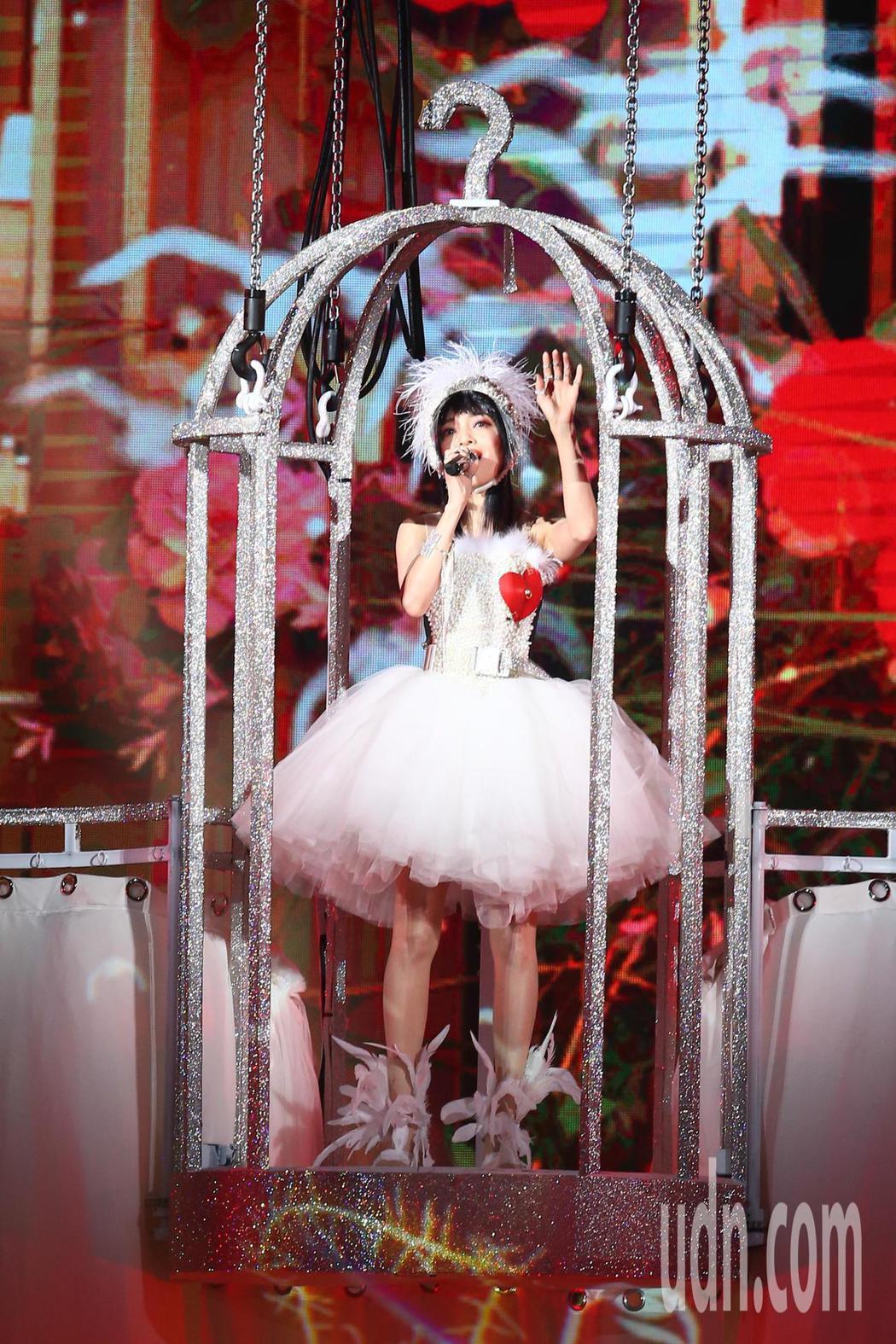 張韶涵今天在台北小巨蛋舉辦「旅程」世界巡迴演唱會第一場。記者葉信菉/攝影
