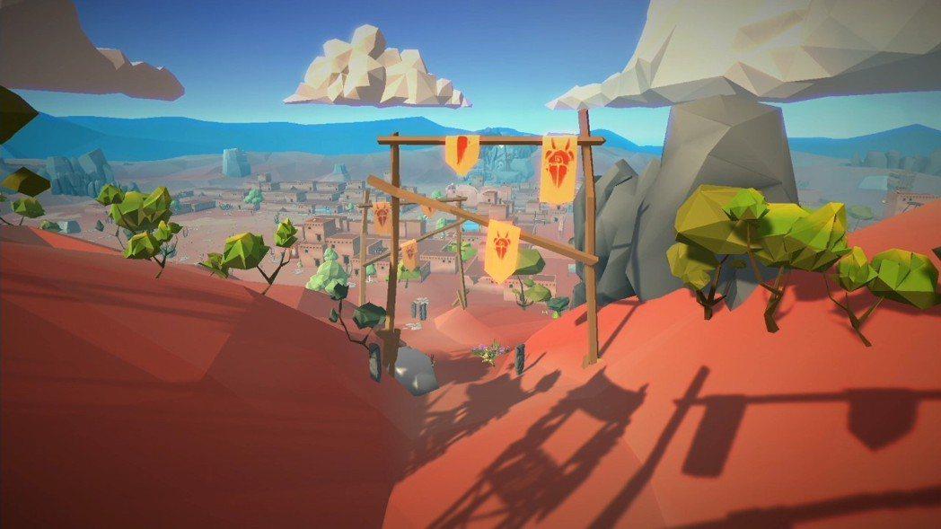 本遊戲的物件都是走簡單線條的大塊風格,屬於多邊形較粗曠的美術。