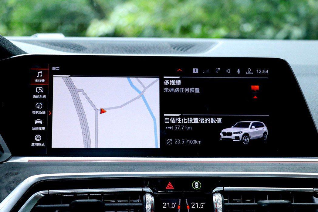 X5成為品牌第一款導入iDrive 7.0介面的車款。 記者陳威任/攝影