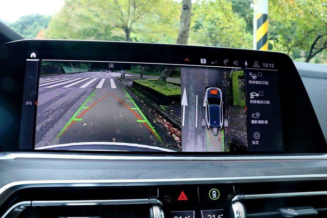 BMW X5 xDrive40i配備自動停車輔助系統、360度環景輔助攝影含遠端3D監控功能等安全科技。 記者陳威任/攝影