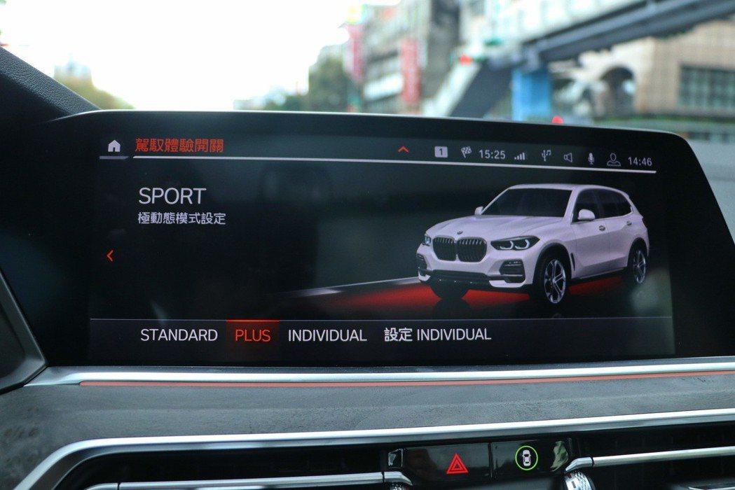 駕駛還可透過位於排檔桿旁的動態行車模式按鈕,在SPORT、COMFORT、ECO PRO三種模式間自由切換,感受全然不同的駕駛風格。 記者陳威任/攝影