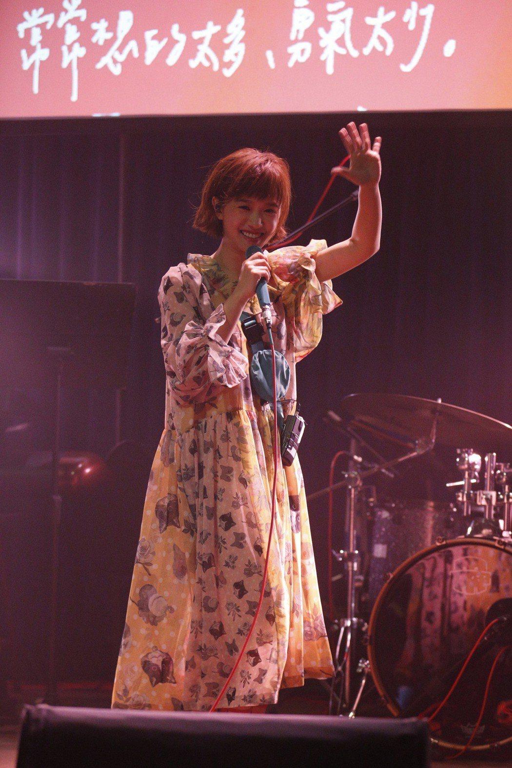 嚴正嵐14日舉辦小型演唱會。圖/海蝶提供
