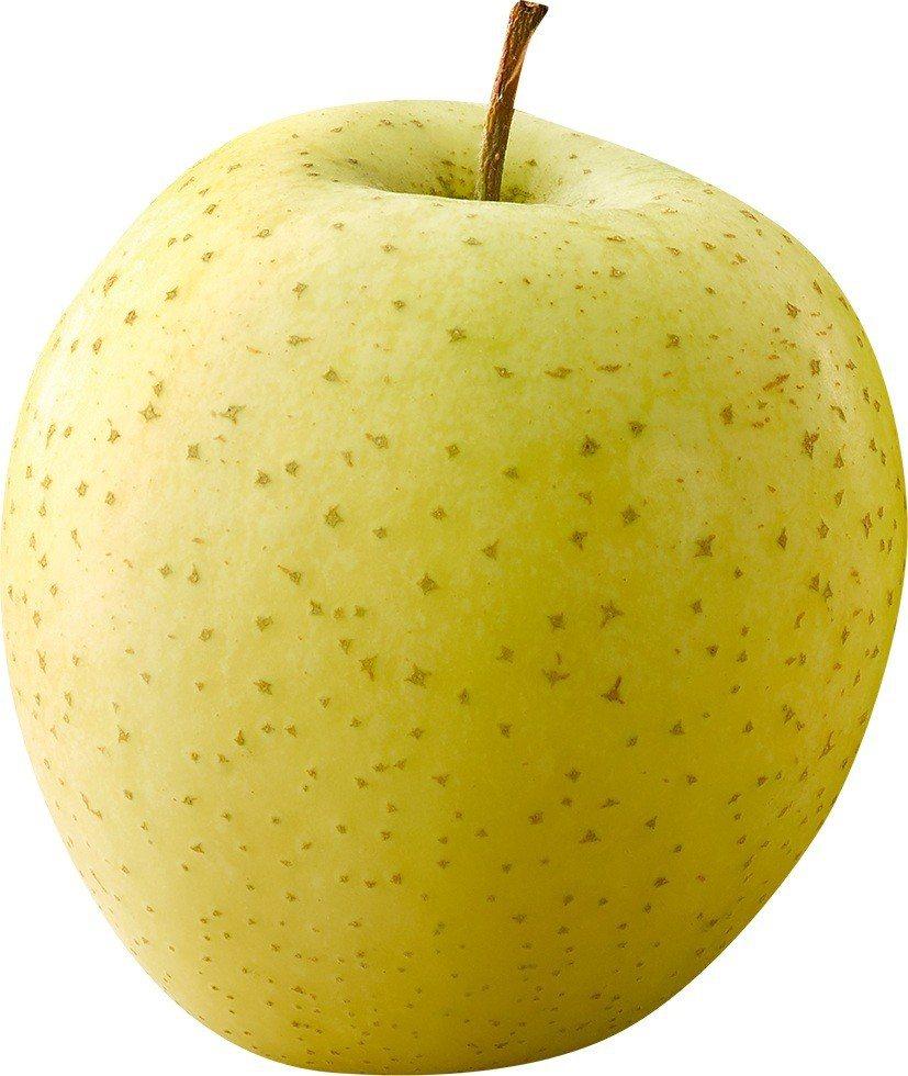 有蘋果界國王之稱的「王林」外皮呈黃綠色,果肉綿密緊實、香甜多汁,幾乎不帶酸味。圖...