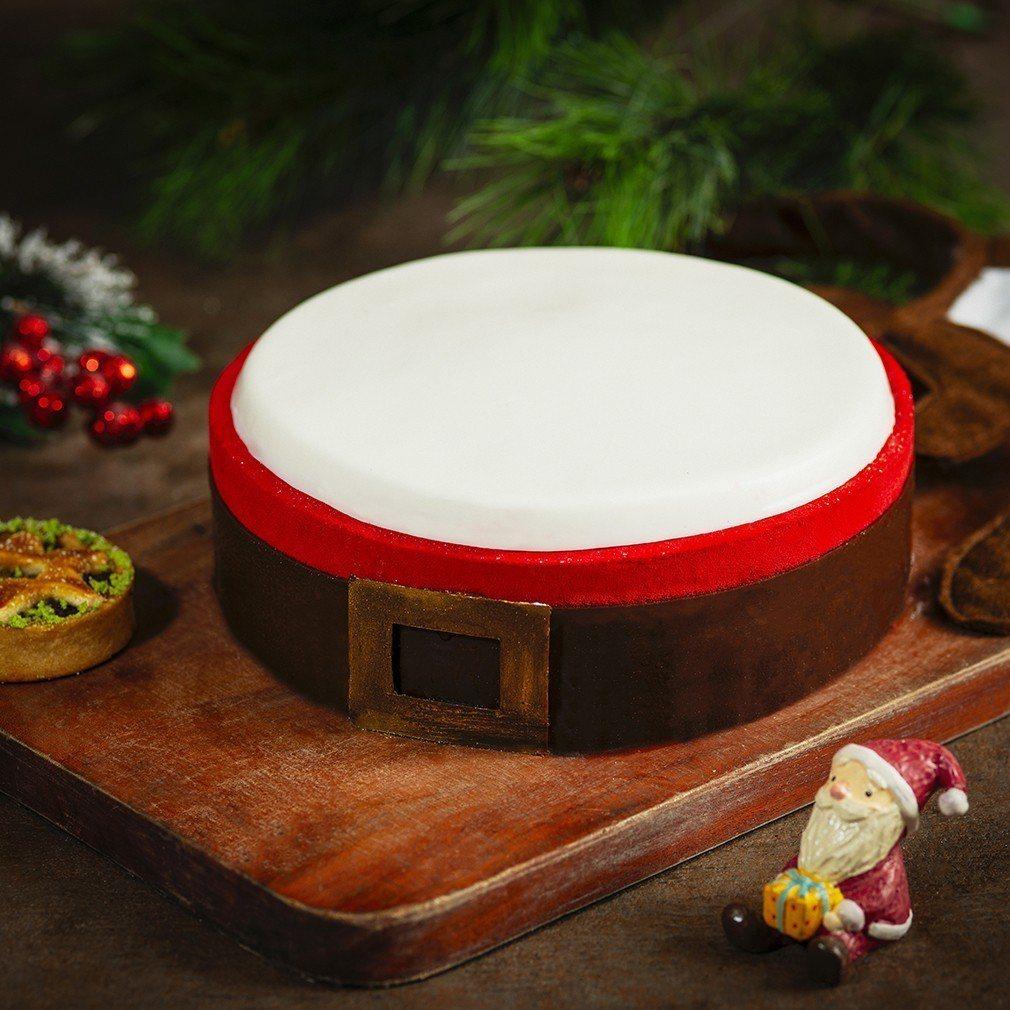 「耶誕椰子草莓蛋糕 」售價1280元。圖/香格里拉台北遠東飯店提供