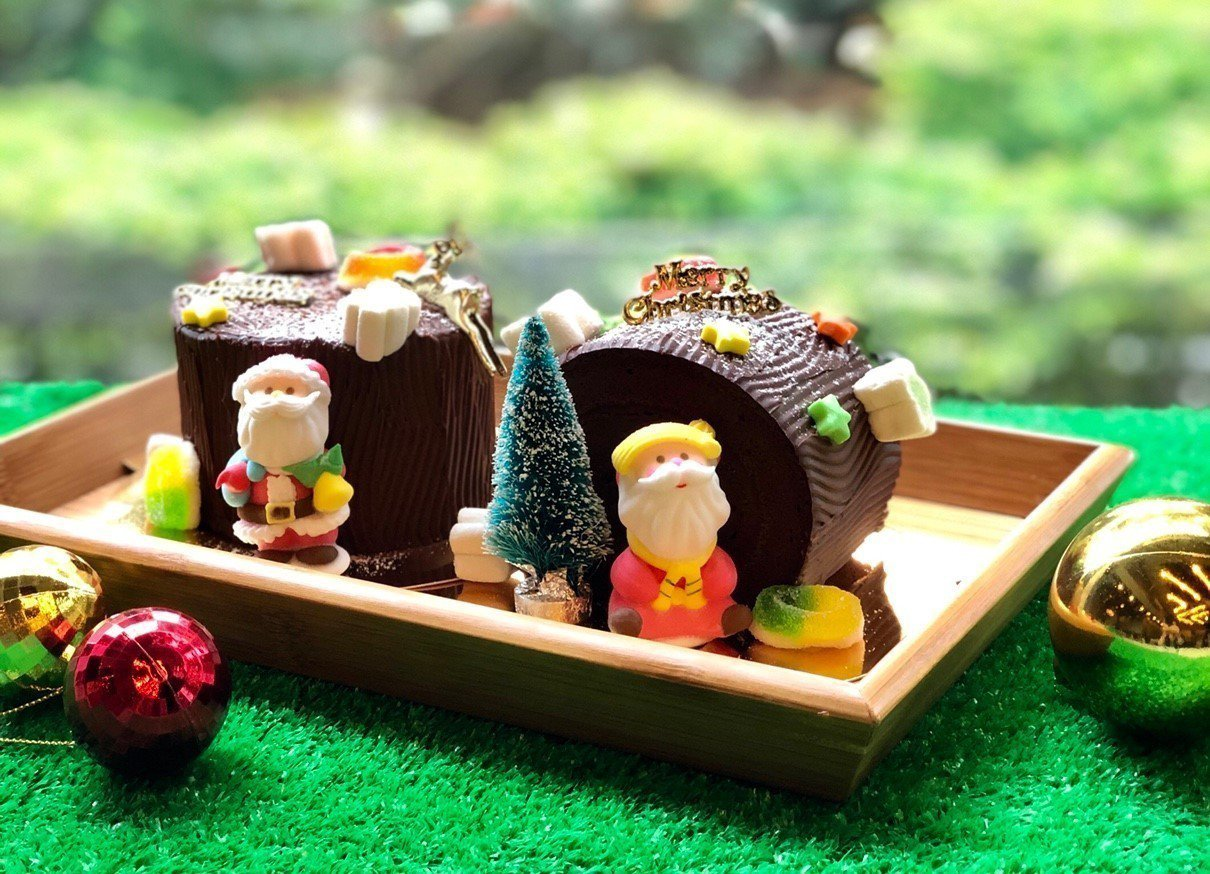 Taipei Garden Cafe「耶誕巧克力樹幹蛋糕 」每個220元+10%...