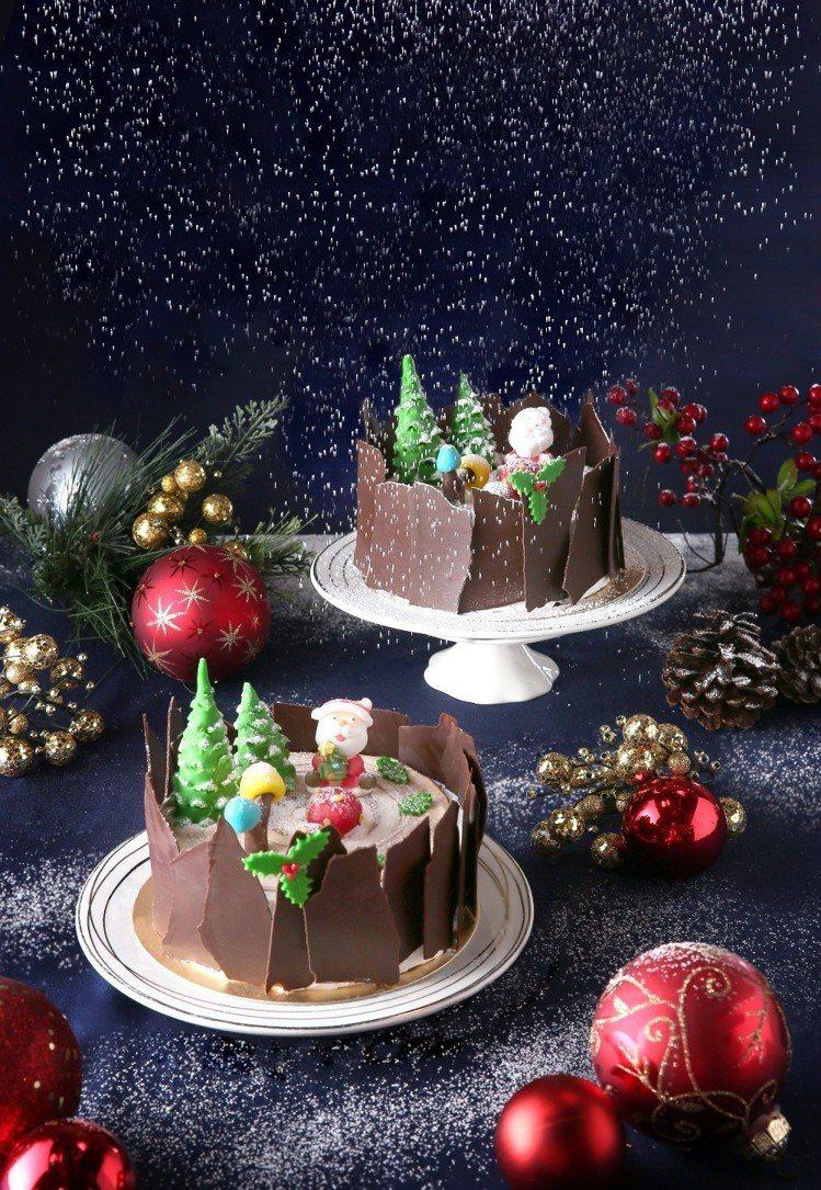 亞都麗緻麗緻坊「黑森林樹幹蛋糕」,售價800元。圖/台北亞都麗緻大飯店提供