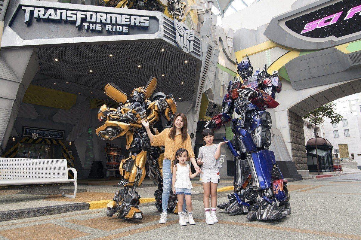 新加坡環球影城能夠體驗《變形金剛》的主題設備。圖/聖淘沙名勝世界提供
