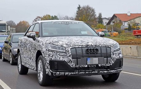Audi Q2 E-Tron純電版本 路試中首度曝光