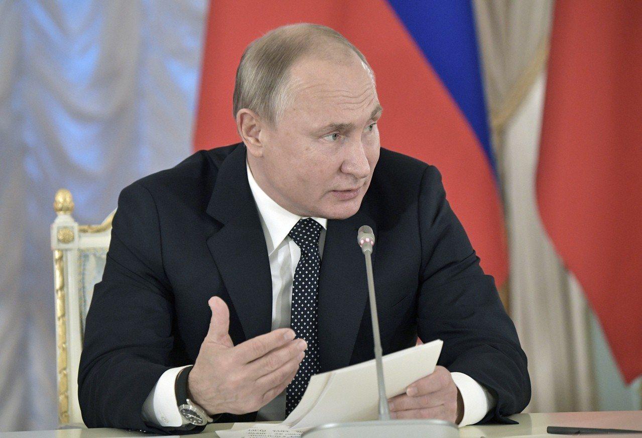 俄羅斯可能因扣押烏克蘭軍艦,而即將遭到西方的新制裁。圖為俄羅斯總統普亭。 美聯社