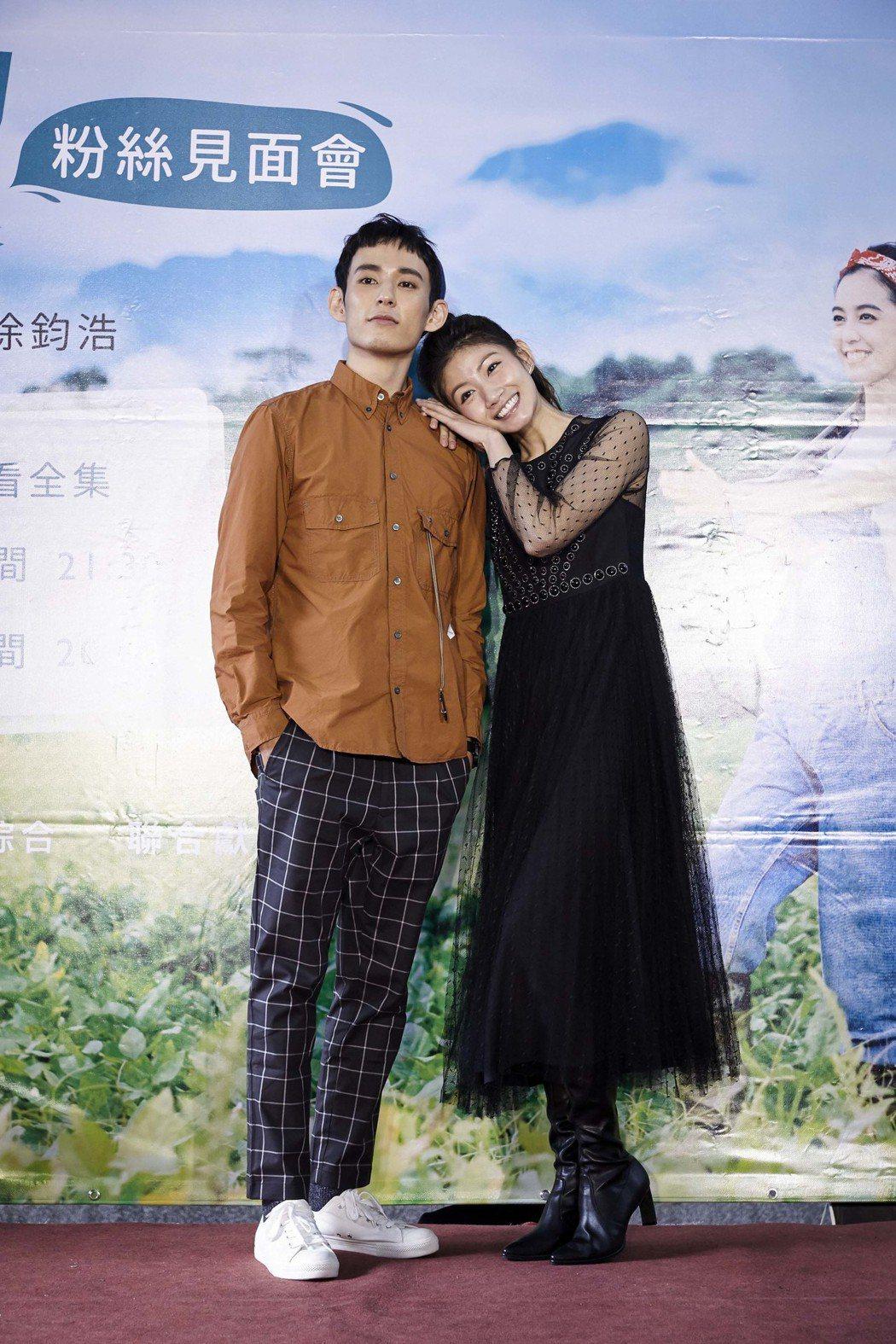 徐鈞浩(左)與李千那劇中有感情糾葛。圖/歐銻銻娛樂提供