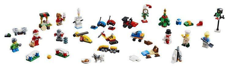 LEGO 60201 樂高城市系列驚喜月曆,有人偶、車子、耶誕樹、耶誕老人等,每...