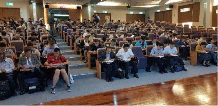 台灣長照醫學會專科醫師甄審學分研討會,進行專科醫師考試。 台灣長照醫學會/提供