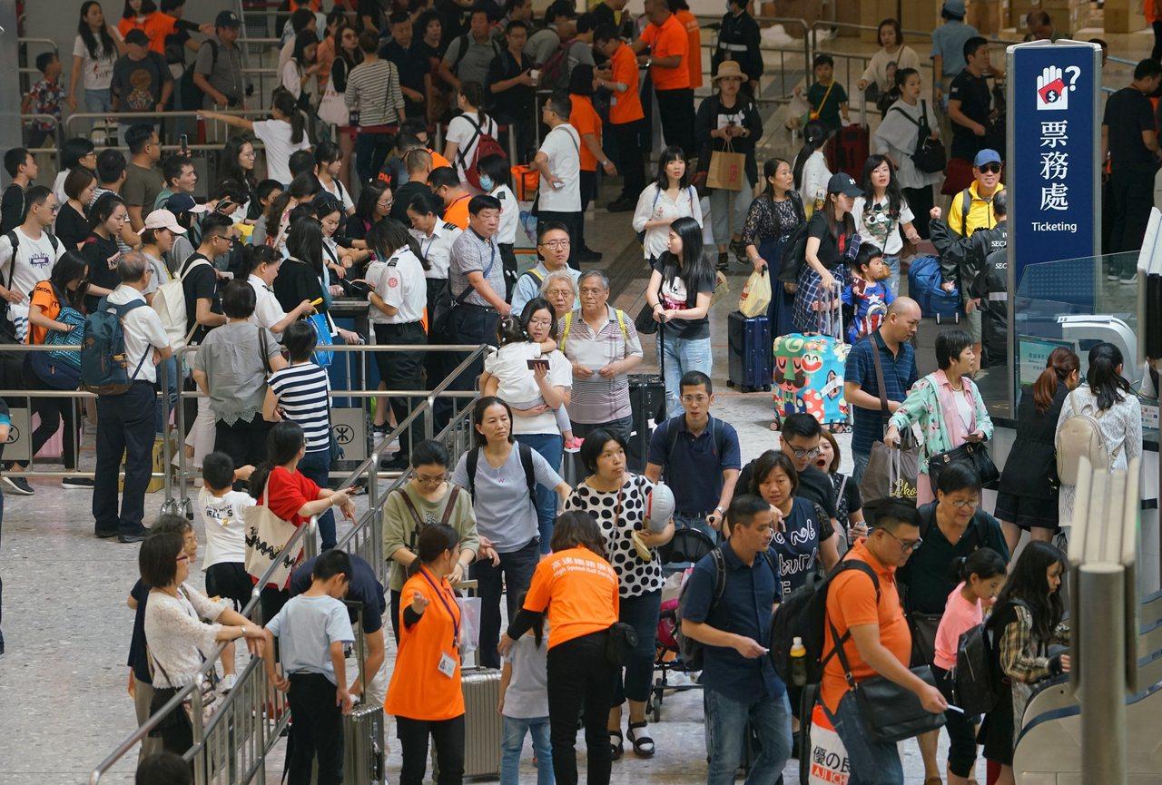 香港官員今天公布,本月15至20日的訪港旅客人次。 中國新聞社