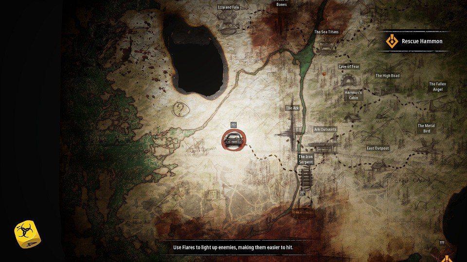 ▲地圖上顯示的地標代表一個區域,而區域與區域之間能夠快速旅行