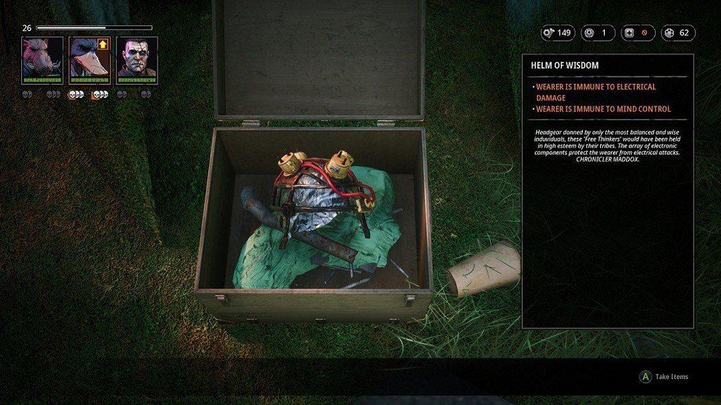 ▲搜刮寶箱就有機會獲得裝備或武器