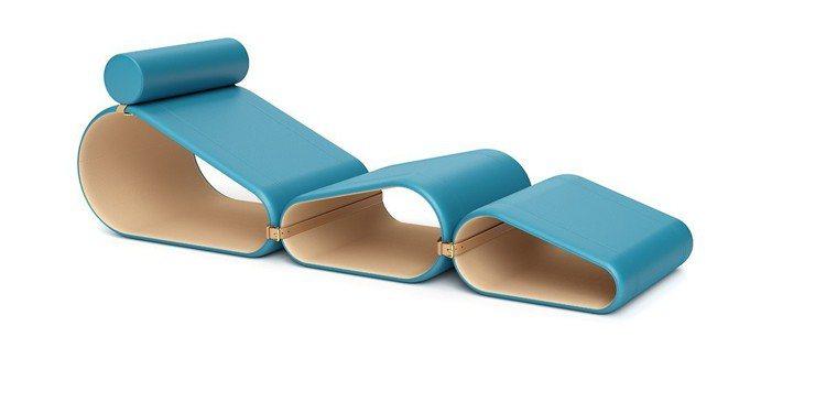 路易威登典藏2016年由設計鬼才Marcel Wanders打造的皮革休閒躺椅。...