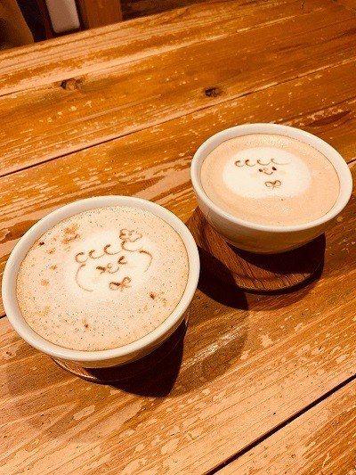 ほんわかカフェラテ(溫和咖啡拿鐵)¥550/口感溫潤的拿鐵配上可愛的拉花, 立刻...