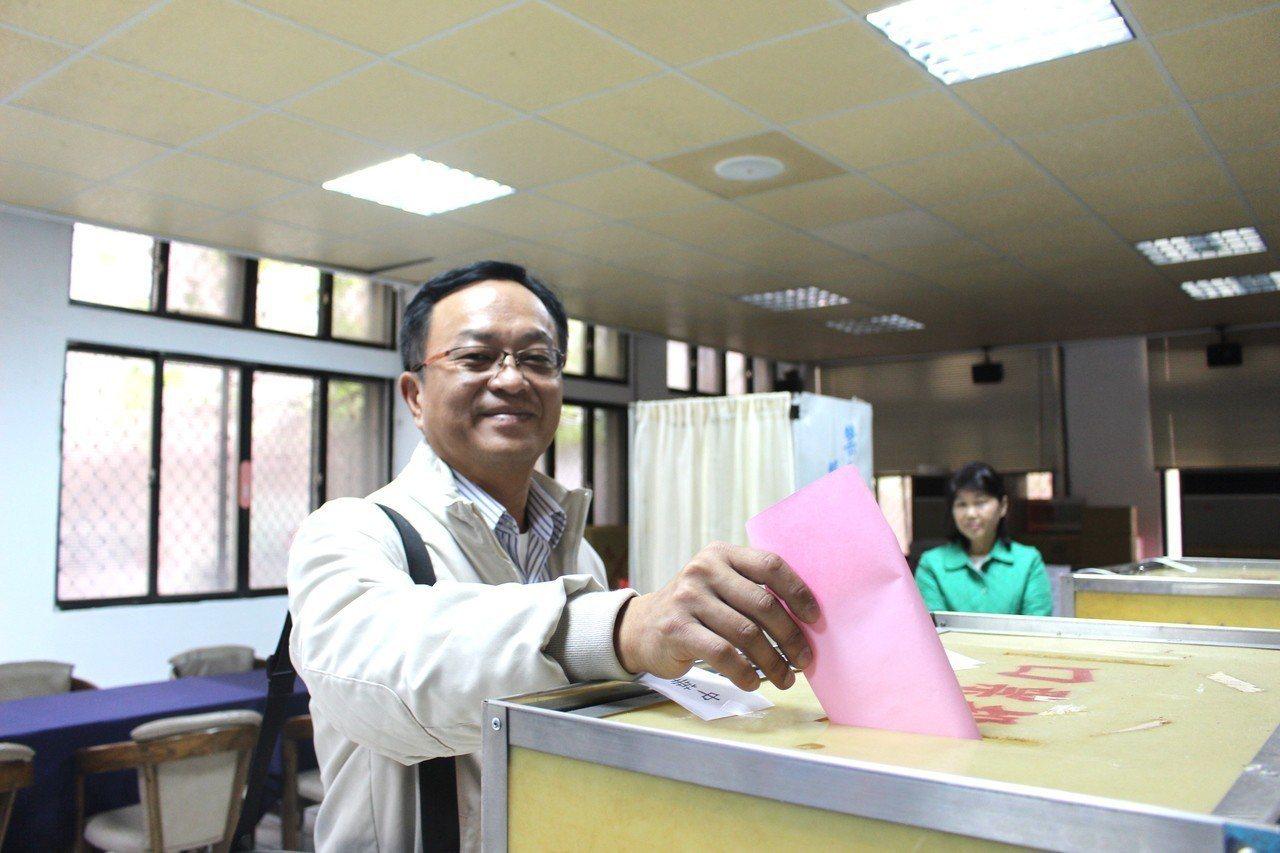 余邦彥爭取新竹議會副議長人選。記者張雅婷/攝影