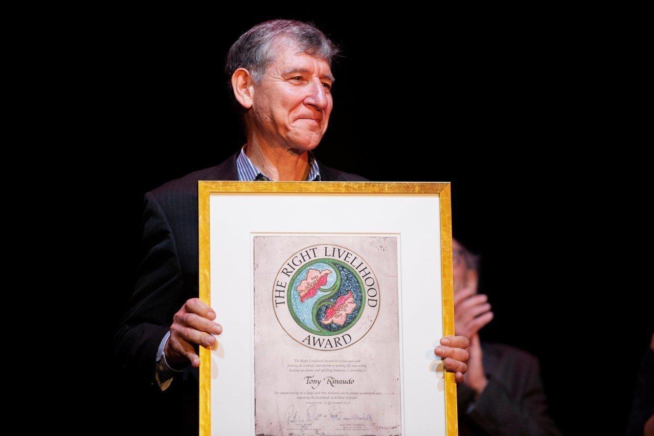 芮納多11月23日在斯德哥爾摩獲頒有「另類諾貝爾獎」美譽的2018年Right ...