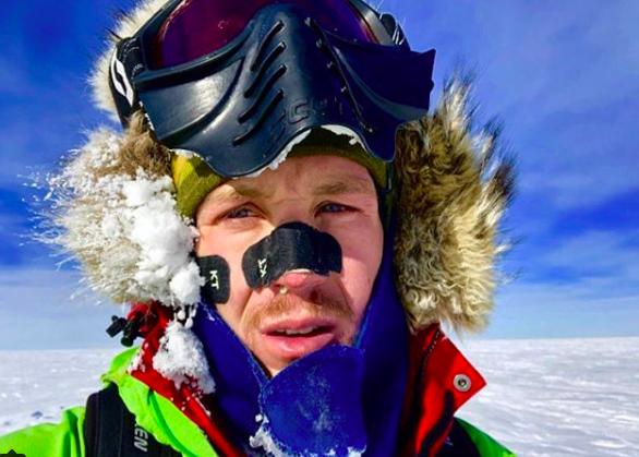 33歲的美國探險家科林•奥布雷迪有望成為獨自穿越南極洲的第一人。取自Colin ...