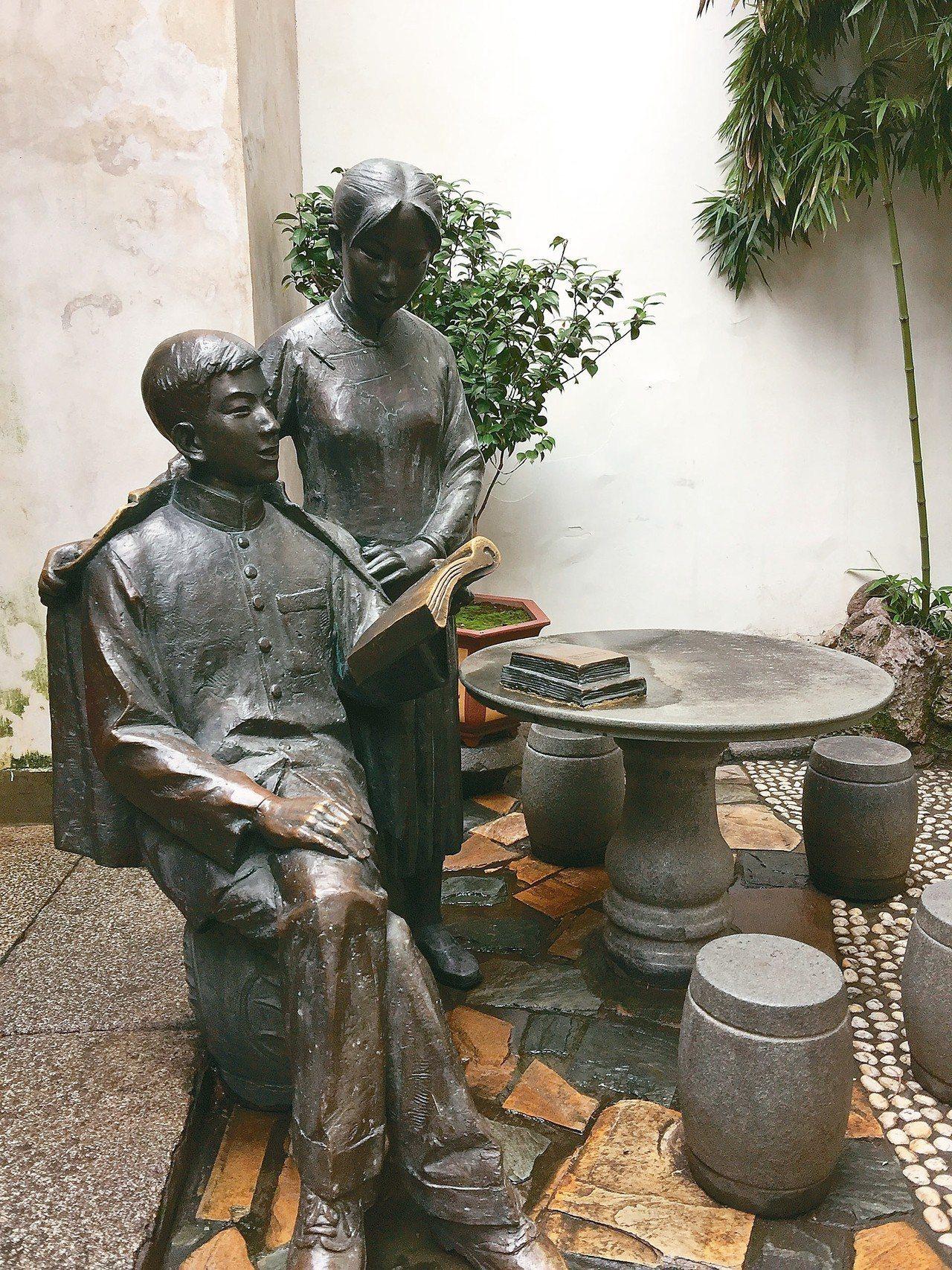 林覺民及妻子塑像 記者汪莉絹、曾玉玲/攝影